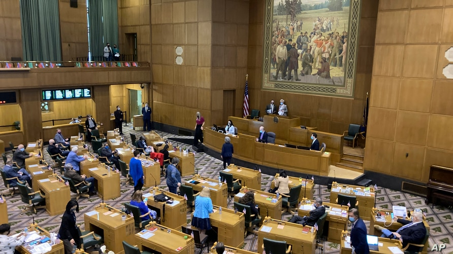 The Oregon House of Representatives get set to open a session on the evening of June 10, 2021, to consider expelling member Rep. Mike Nearman for letting violent protesters into the Oregon Capitol in December.