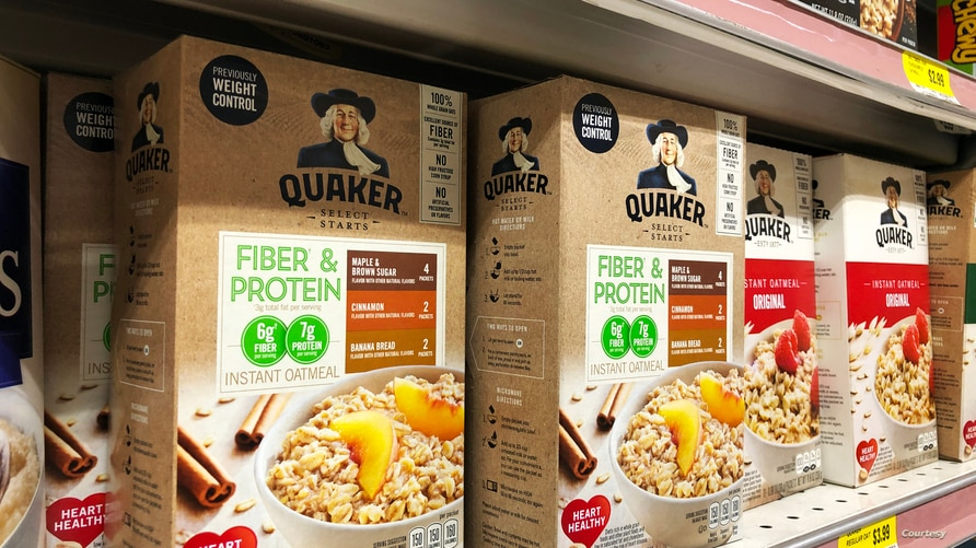 Oatmeal boxes are seen on a shelf in a grocery store in Prince William's county in Virginia. (Photo by Diaa Bekheet)