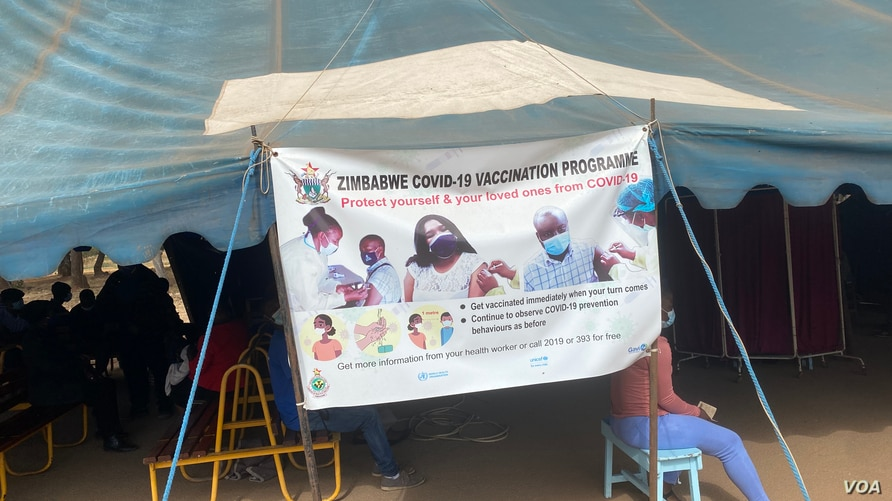 Harare Central Hospital is one of the vaccination centers that have been affected by shortages of COVID-19 jabs since last month, and supplies are set to increase soon when Zimbabwe receives more doses from China, June 24, 2021. (ColumbusMavhunga/VOA)