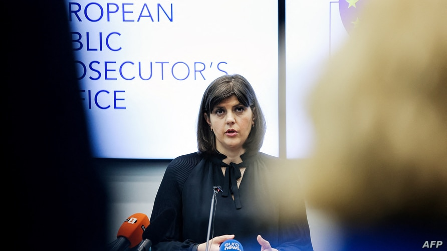 European Chief Prosecutor of the newly-launched European Public Prosecutor's Office (EPPO) Laura Kovesi answers journalists' question during a press conference at EPPO headquarters in Luxembourg, June 1, 2021.