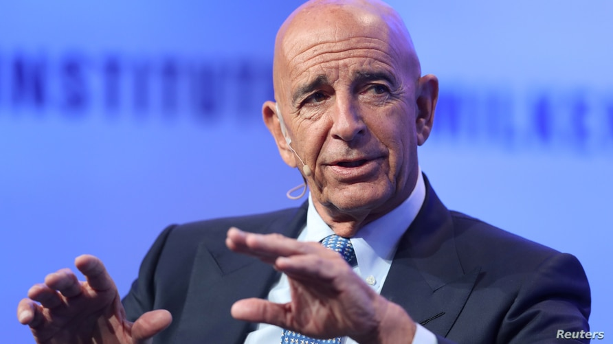 Thomas Barrack, Executive Chairman, Colony Northstar, speaks at the Milken Institute's 21st Global Conference in Beverly Hills,…