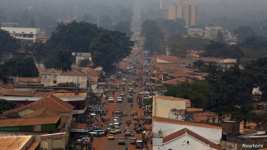 FILE - A general view shows a part of the capital Bangui, Central African Republic, February 16, 2016.