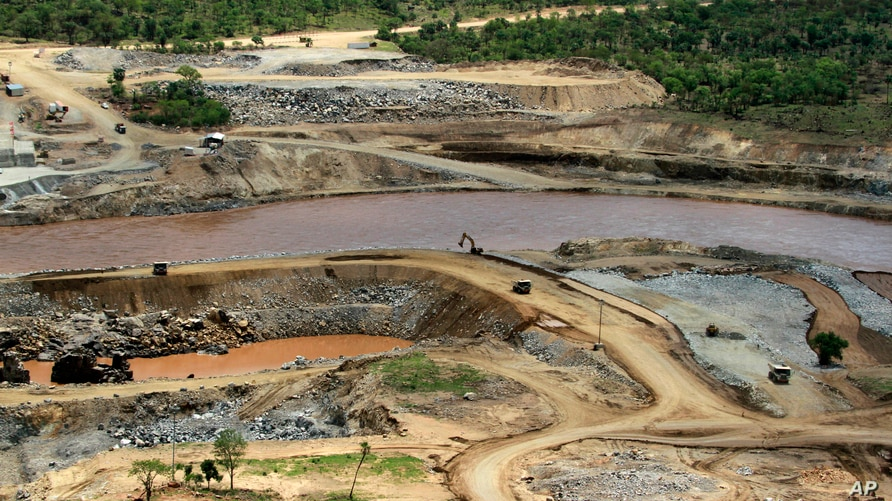 FILE - The Blue Nile river flows near the site of the planned Grand Ethiopian Renaissance Dam.