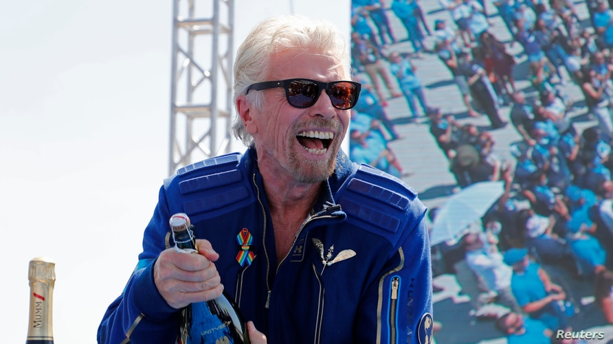 Billionaire Richard Branson Reaches Space, Safely Returns to Earth | Voice  of America - English