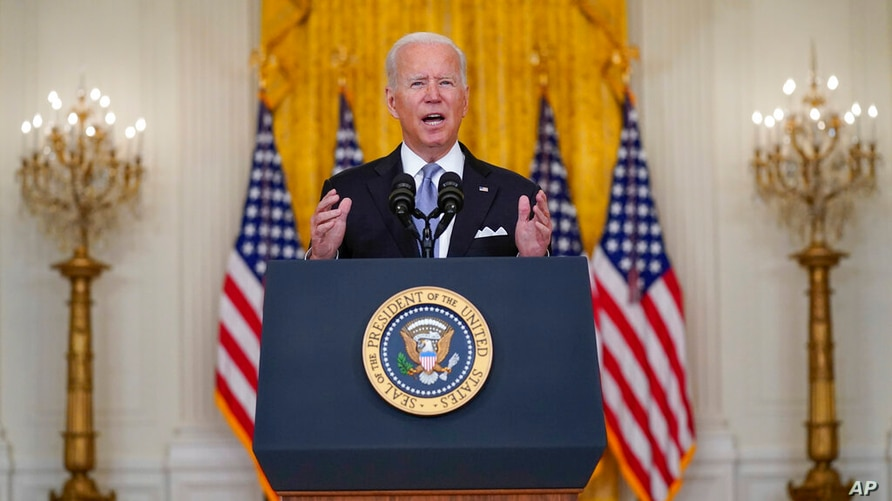 Biden Defends Afghanistan Withdrawal Decision   Voice of America - English