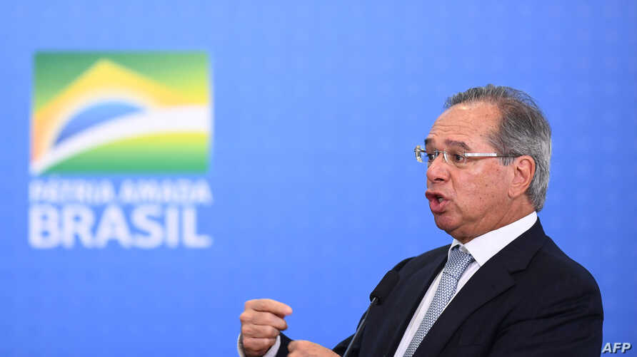 Brazilian Economy Minister Paulo Guedes announces measures to stimulate the economy at Planalto Palace in Brasilia, July 24, 2019.