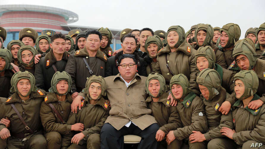 TOPSHOT - This undated picture released from North Korea's official Korean Central News Agency (KCNA) on November 18, 2019…