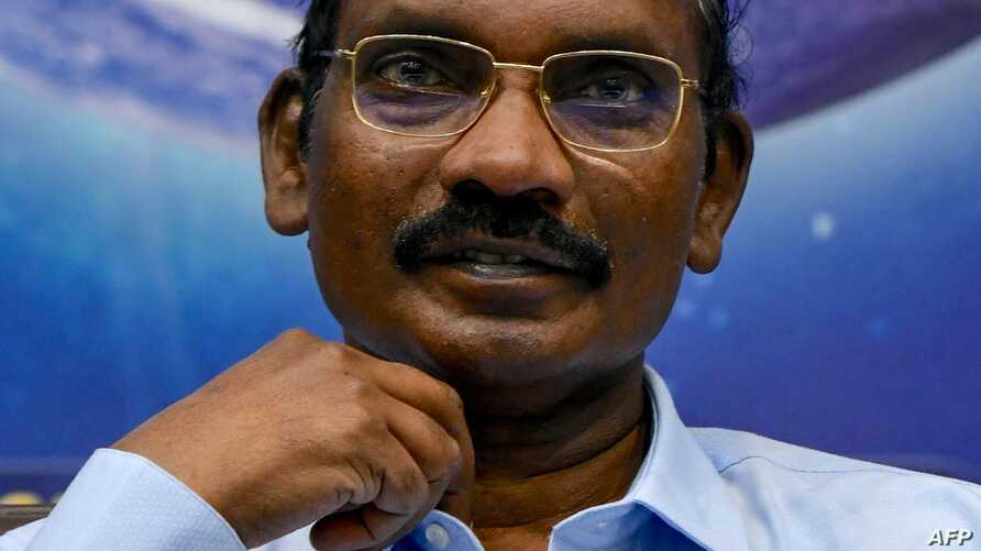 Chairman of the Indian Space Research Organisation (ISRO) Kailasavadivoo Sivan gestures as he announces ISRO's plans for 2020…