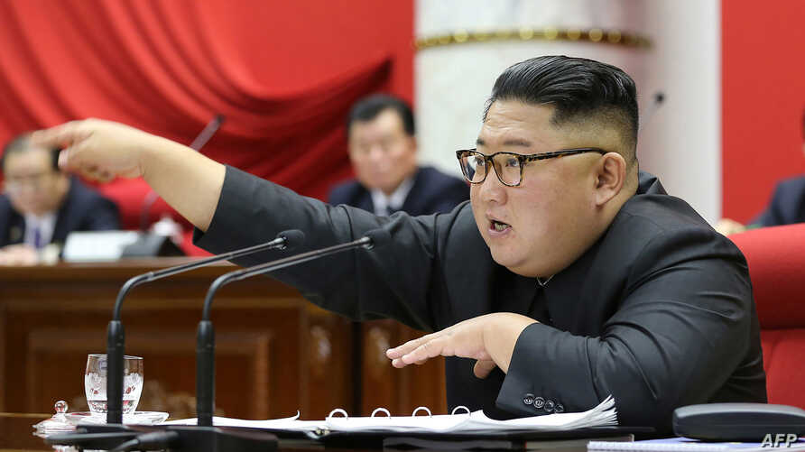 This picture taken during the period of December 28 to December 31, 2019 and released from North Korea's official Korean…