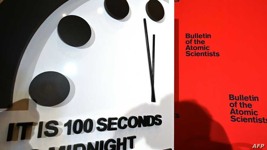The Doomsday Clock reads 100 seconds to midnight, a decision made by The Bulletin of Atomic Scientists, during an announcement…