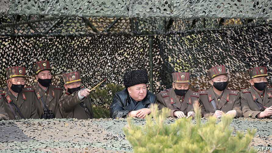 TOPSHOT - This picture taken on March 12, 2020 and released by North Korea's official Korean Central News Agency (KCNA) on…