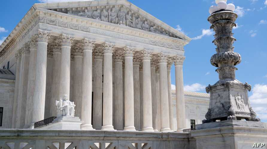The US Supreme Court is seen following oral arguments in Trump v. Mazars and Trump v. Deutsche Bank AG, dealing with the…