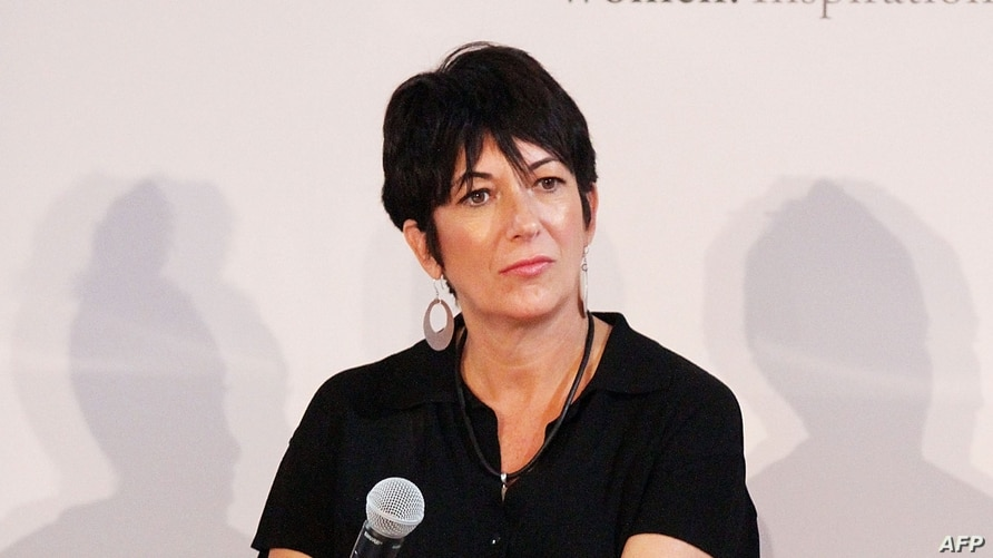 (FILES) In this file photo taken on September 20, 2013, Ghislaine Maxwell attends day 1 of the 4th Annual WIE Symposium at…
