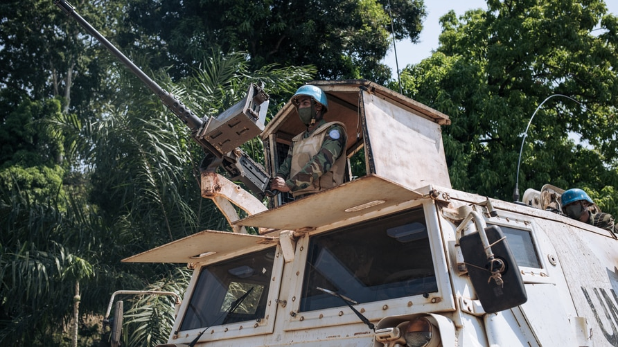Egyptian commandos of the United Nations Multidimensional Integrated Stabilization Mission in the Central African Republic …