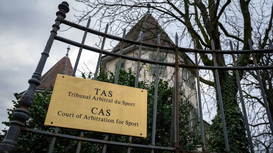 The building hosting the Court of Arbitration for Sport (CAS) is seen in Lausanne on December 17, 2020 ahead of its verdict on…