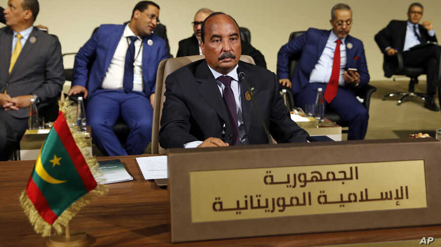 Mauritania's President Mohamed Ould Abdel Aziz attends the Arab Economic and Social Development Summit, in Beirut, Jan. 20, 2019.