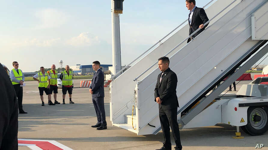 Acting Defense Secretary Mark Esper arrives in Brussels, June 25, 2019, for a meeting of NATO defense ministers.