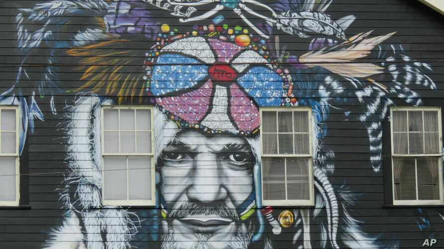 This mural of musician Dr. John, seen in a Feb. 22, 2019 photo, is among nearly two dozen created through Neal Morris's NOLA Murals Project after Morris sued New Orleans to overturn its murals regulation. The lawsuit was scheduled for a hearing…
