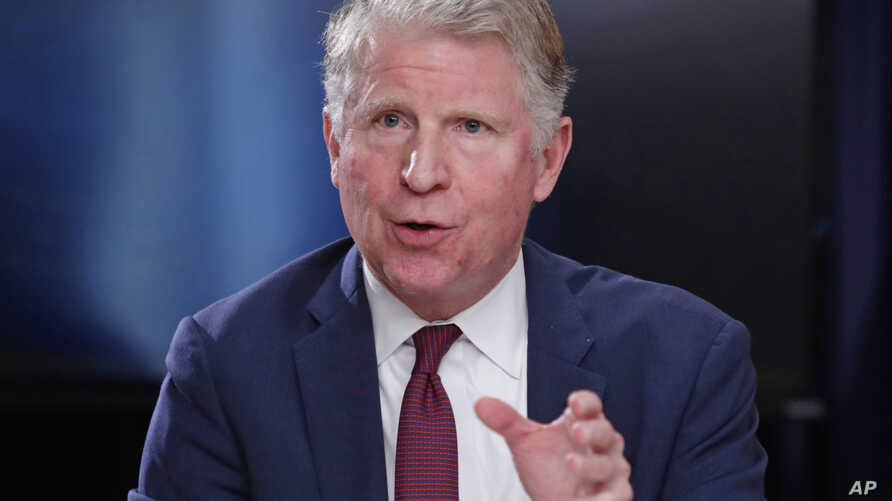 FILE - Manhattan District Attorney Cyrus R. Vance, Jr., responds to a question during a news conference in New York, May 10, 2018.