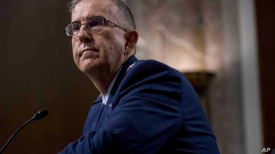 Gen. John Hyten appears before the Senate Armed Services Committee on Capitol Hill in Washington, July 30, 2019, for his confirmation hearing to be Vice Chairman of the Joint Chiefs of Staff.