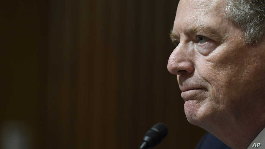 United States Trade Representative Robert Lighthizer testifies before the Senate Finance Committee on Capitol Hill in Washington, Tuesday, June 18, 2019, during a hearing hearing on 'The President's 2019 Trade Policy Agenda and the United States…
