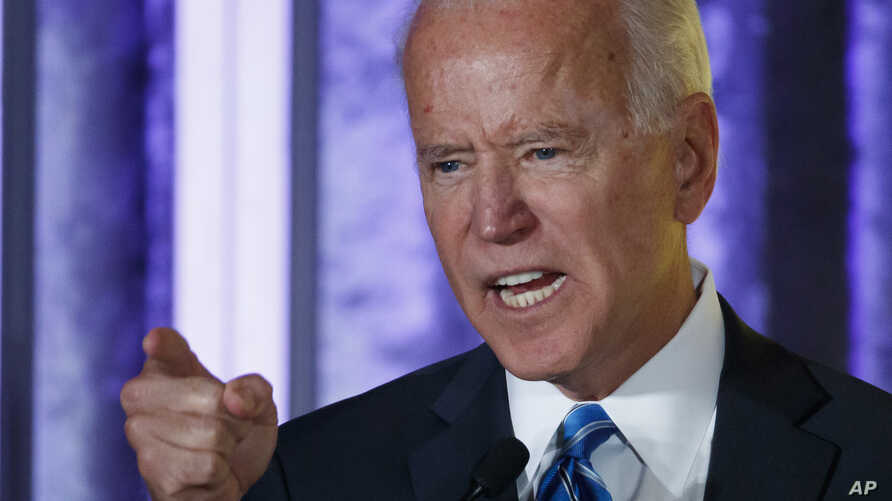 Democratic presidential candidate former Vice President Joe Biden speaks at the 2019 Democratic women's leadership forum,…