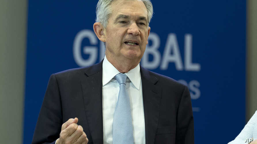 Federal Reserve Board Chair Jerome Powell, during the plenary of the International Monetary and Financial Committee (IMFC)…