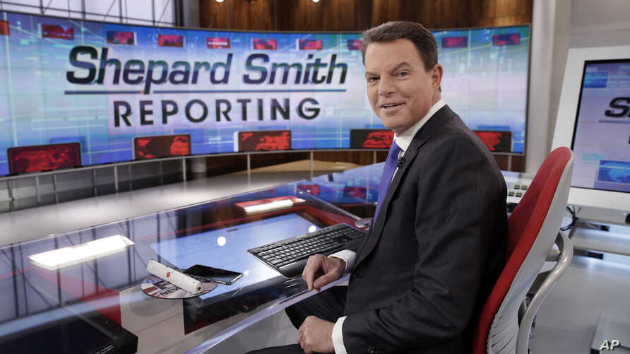"FILE - In this Jan. 30, 2017, file photo, Fox News Channel chief news anchor Shepard Smith appears on the set of ""Shepard Smith…"