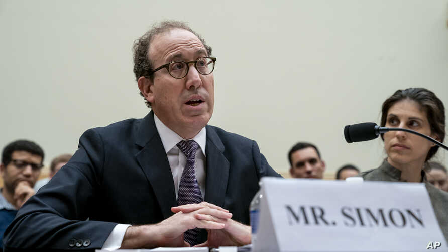 Joel Simon, executive director of the Committee to Protect Journalists, testifies before the House Foreign Affairs Subcommittee…