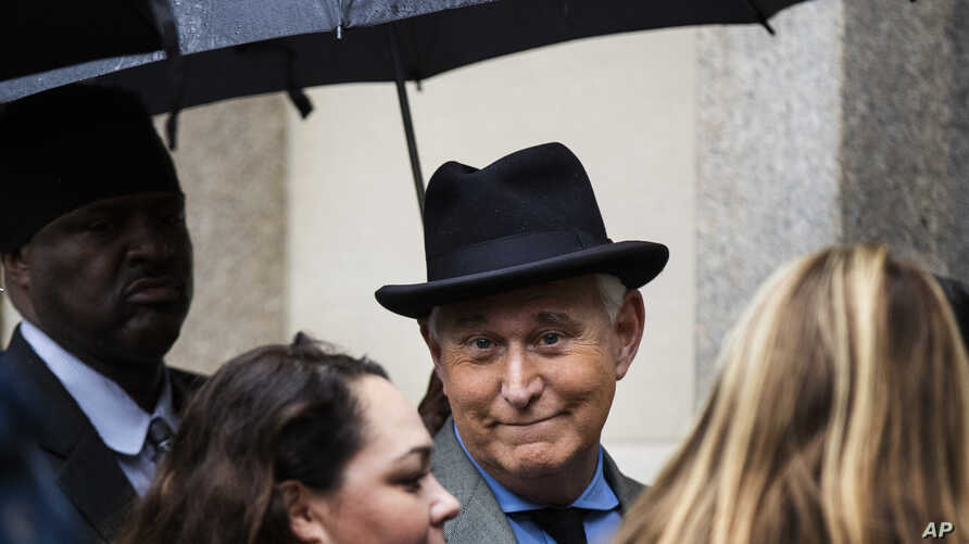 Roger Stone, a longtime Republican provocateur and former confidant of President Donald Trump, waits in line at the federal…