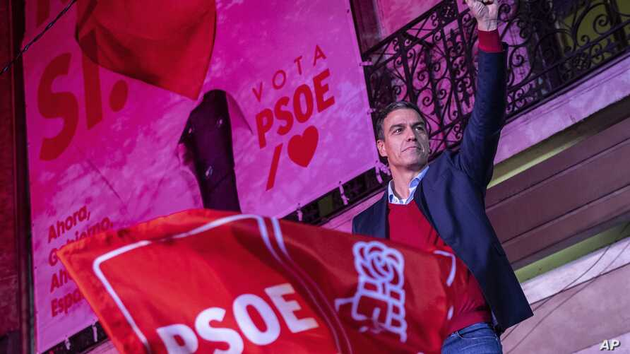 Spain's Prime Minister and Socialist Party leader Pedro Sanchez