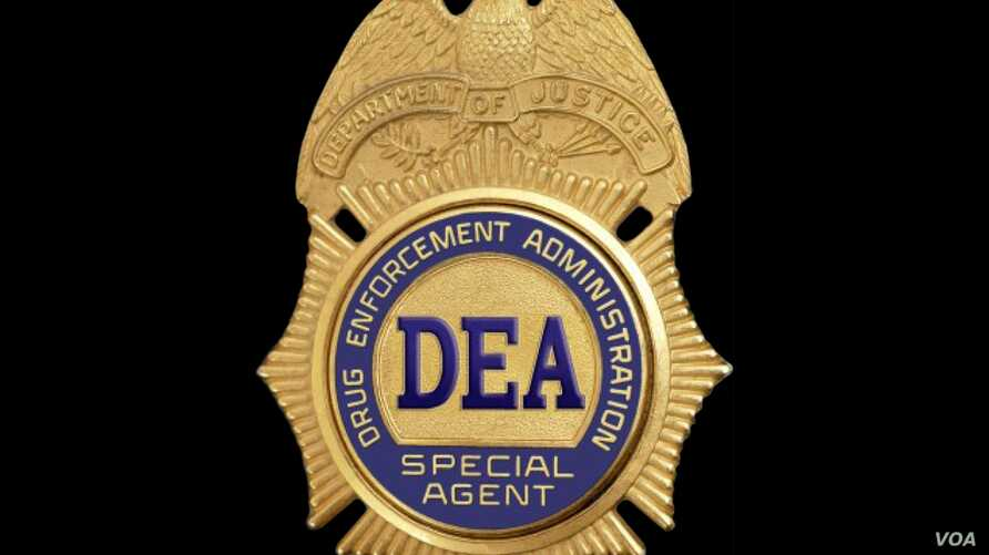 US Drug Enforcement Administration special agent badge, graphic element on black