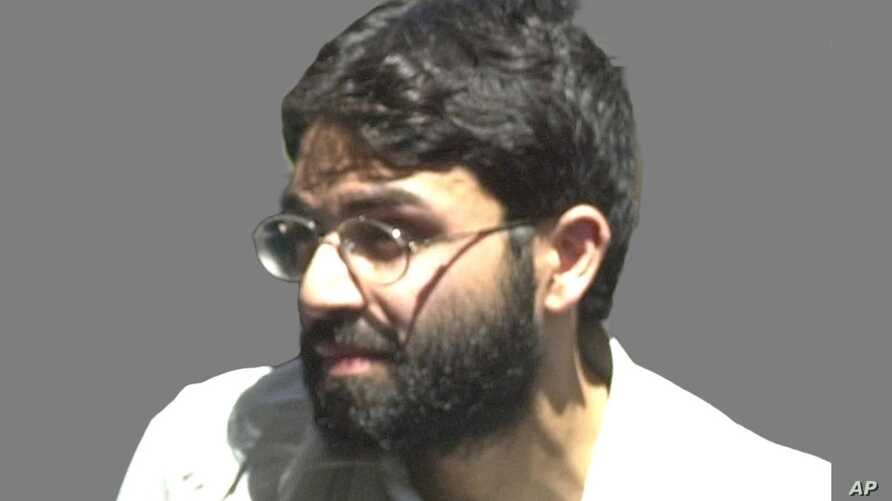 Ahmed Omar Saeed Sheikh headshot, as the alleged mastermind behind Wall Street Journal reporter Daniel Pearl's abduction,…