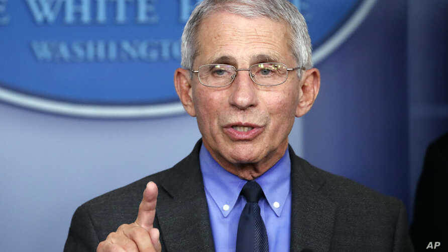 Dr. Anthony Fauci, director of the National Institute of Allergy and Infectious Diseases, speaks about the coronavirus in the…