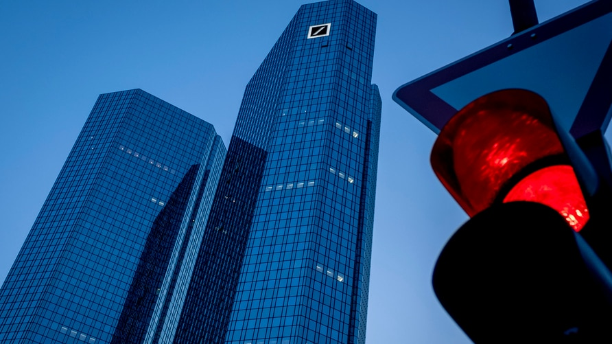 The headquarters of Deutsche Bank is seen in Frankfurt, Germany, Monday, May 18, 2020. The bank will hold a virtual annual…