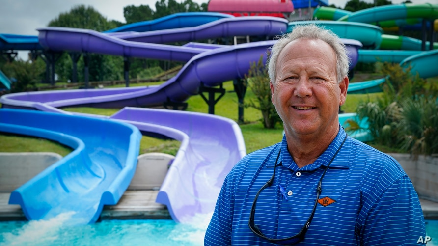Mark Lazarus, the president and owner of Lazarus Entertainment Group, poses for a picture, Thursday, July 9, 2020, in Myrtle…