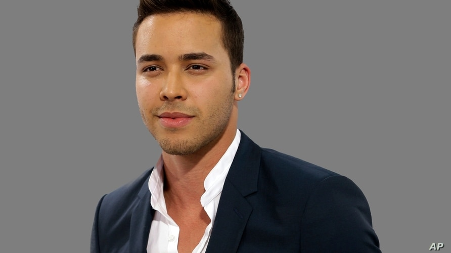 Prince Royce headshot, singer, graphic element on gray