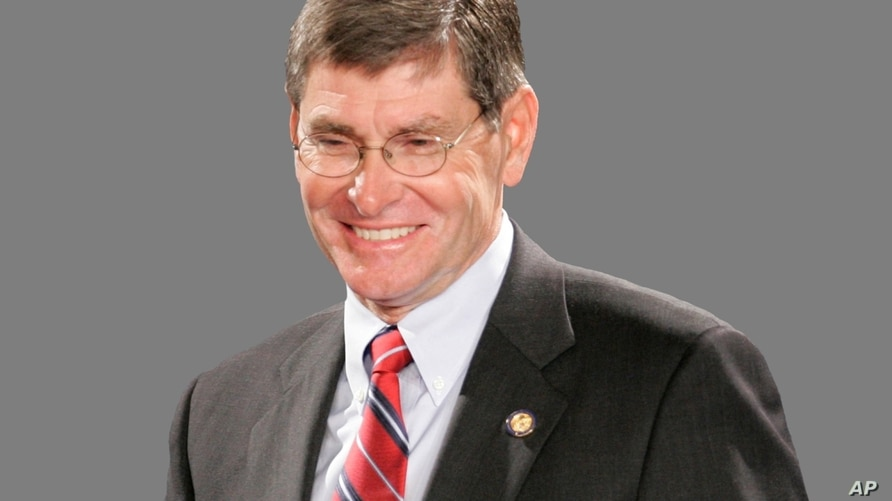 Jim Ryun headshot, former US Representative of Kansas who was the first high school runner to clock a mile in under 4 minutes,…