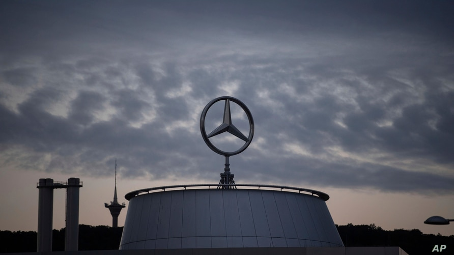 The Mercedes star is pictured at the Mercedes Benz headquarters in Stuttgart, Germany, Wednesday, July 8, 2020. Due to the…