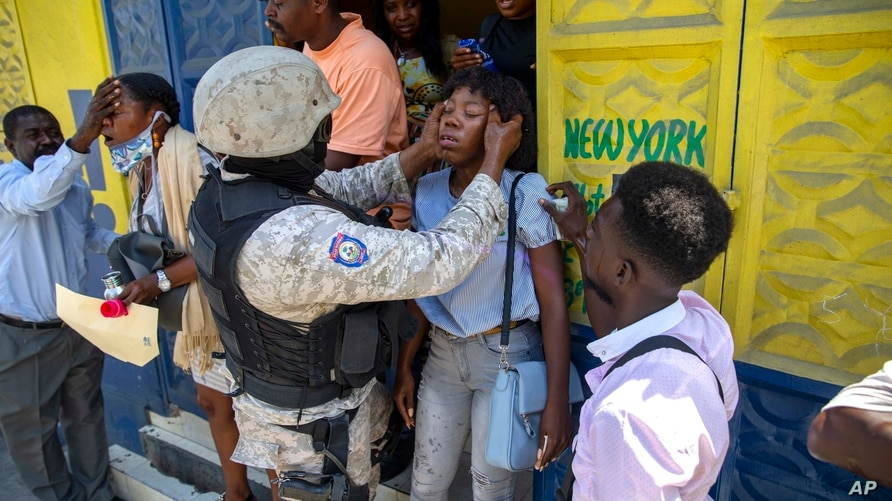 Bystanders are assisted after police fired tear gas to disperse a protest demanding justice for a student demonstrator who was…