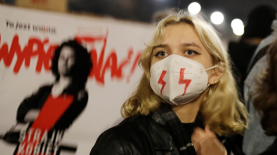 Young people take part in a massive protest against the conservative government on the eighth straight day of angry…