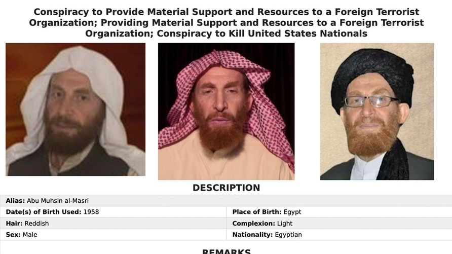 This image released by the FBI shows the wanted poster of al-Qaida propagandist Husam Abd al-Rauf, also known by the nom de…