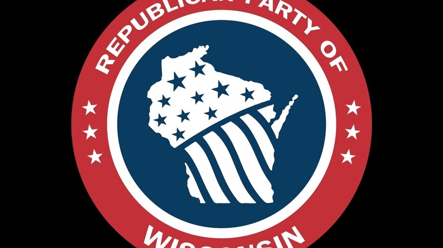 Wisconsin Republican Party logo, graphic element on black