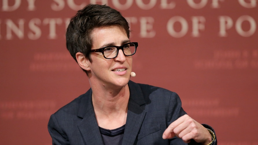 FILE - In this Oct. 16, 2017 file photo, MSNBC television anchor Rachel Maddow, host of the Rachel Maddow Show, moderates a…