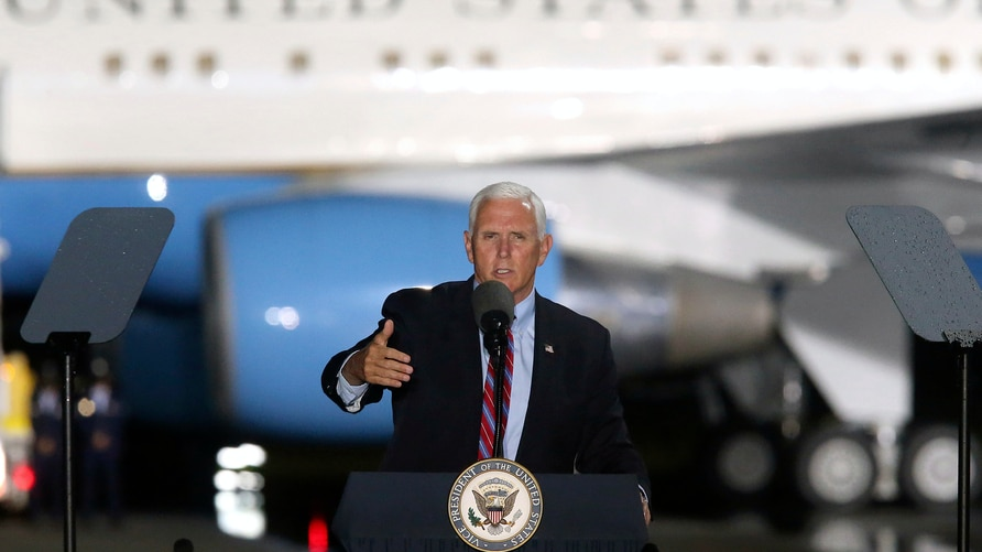 Vice President Mike Pence speaks to supporters Saturday Oct. 24, 2020 in Tallahassee, Fla. Battleground Florida was again a…
