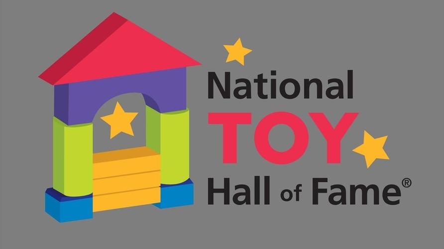 NATIONAL TOY HALL OF FAME logo, graphic element on gray