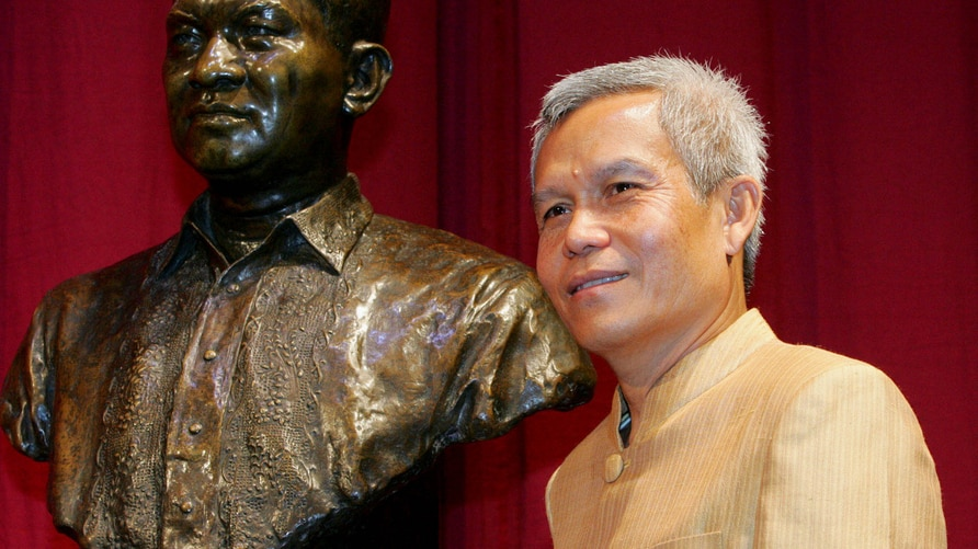 FILE - In this Aug. 31, 2005 file photo, Sombath Somphone of Laos, the winner of Ramon Magsaysay Award for Community Leadership…