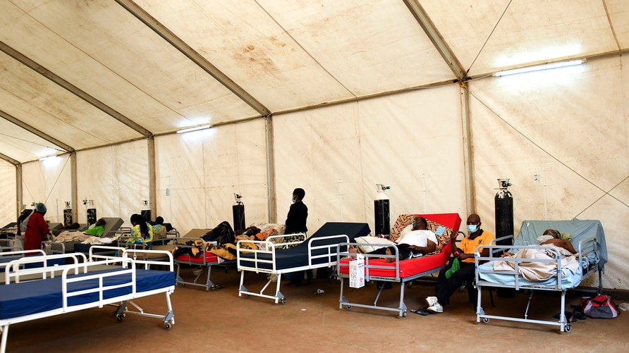 COVID-19 patients are seen at Queen Elizabeth Central Hospital COVID-19 make shift ward at Queen Elizabeth Central Hospital…
