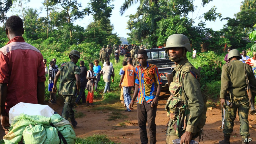 Year End Africa 2018 - YEAR IN REVIEW.  FILE - In this photo taken Friday, Oct 5, 2018, Congolese Soldiers patrol in an area…