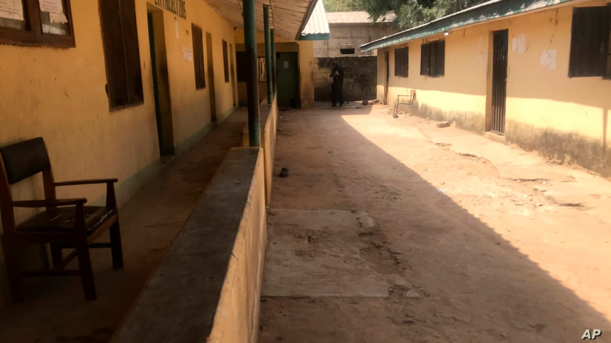 The empty Federal College of Forestry Mechanization school, following an attacked by gunmen in Afaka Nigeria, Friday March 12…